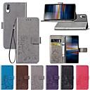 رخيصةأون Sony أغطية / كفرات-غطاء من أجل Sony Sony XA2 Plus / سوني اريكسون L3 / سوني اريكسون 10 محفظة / مع حامل / قلب غطاء كامل للجسم لون سادة / فراشة / زهور قاسي جلد PU