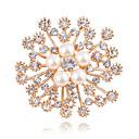 ieftine Broșe-Pentru femei Diamant sintetic Broșe Floare femei Clasic Modă extravagant Imitație de Perle Broșă Bijuterii Auriu Pentru Nuntă Zilnic Mascaradă Petrecere Logodnă Bal Dată