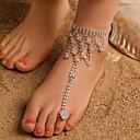 ieftine Bijuterii de Corp-Pentru femei Sandale Desculț Brățară Gleznă Bijuterii Argintiu Pentru Petrecere Zilnic Stradă Concediu Festival