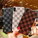 رخيصةأون أساور ساعات هواتف أبل-غطاء من أجل Apple iPhone XR / iPhone XS Max / iPhone X ضد الصدمات / نموذج غطاء خلفي نموذج هندسي قاسي جلد PU