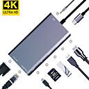 رخيصةأون أجهزة تابلت جرافيك-maikou 8in1 اكتب c hub usb 3.1 إلى بطاقة sd / rj45 / usb 3.0 / vga / hdmi usb hub 8 منافذ دعم وظيفة توصيل الطاقة مع قارئ بطاقة