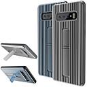 رخيصةأون حافظات / جرابات هواتف جالكسي J-غطاء من أجل Samsung Galaxy S9 / S9 Plus / S8 Plus مع حامل غطاء خلفي لون سادة ناعم TPU