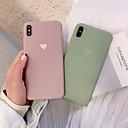 Недорогие Кейсы для iPhone-Кейс для Назначение Apple iPhone XS / iPhone XR / iPhone XS Max Защита от удара / Матовое Кейс на заднюю панель Однотонный / С сердцем Мягкий ТПУ