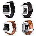 رخيصةأون Smartwatch كابلات وشواحن-حزام إلى Fitbit ionic فيتبيت بكلة كلاسيكية جلد طبيعي شريط المعصم