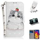 저렴한 LG 케이스 / 커버-케이스 lg v40 thinq / lg stylo 5 / lg g8 얇은 지갑 / 카드 소지자 / shockproof 전신용 케이스 아름다운 고양이 pu 가죽