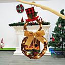رخيصةأون تزيين المنزل-أكاليل / عيد الميلاد / عيد الميلاد الحلي زهريFloral Theme / عطلة خشبي دائري حزب زينة عيد الميلاد