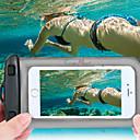billige Skjermbeskyttere til Smartklokker-vanntett telefonveske undervanns tørrpose veske til iPhone mobiltelefoner opp til 6,0