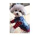ieftine Momeală Pescuit-Câine Hanorace cu Glugă Τζιν μπουφάν Îmbrăcăminte Câini Blugi Albastru Denim Costume Pentru Primăvara & toamnă Iarnă Bărbați Pentru femei Cowboy Modă