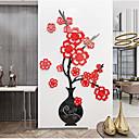 رخيصةأون ملصقات ديكور-الاكريليك جدار زهرة زهرية الجدار ملصق