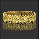 ieftine Coliere-Bărbați Brățări cu Lanț & Legături Wide Bangle Clasic Inimă Prețios Stilat La modă Alamă Bijuterii brățară Auriu Pentru Zilnic Muncă / Placat Auriu