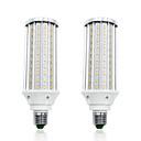 ieftine Set Becuri-LOENDE 2pcs 60 W Becuri LED Corn 6000 lm E26 / E27 T 160 LED-uri de margele SMD 5730 Alb Cald Alb 85-265 V