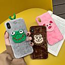 رخيصةأون أغطية أيفون-حالة لتفاح iphone xs max / iphone 8 plus max dustproof / نمط الغطاء الخلفي الحيوان / النسيج الكرتون / نسيج القطن / pc لفون 7/7 زائد / 8/6/6 زائد / xr / x / xs