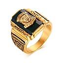 ieftine Inele-Bărbați Band Ring / Inel 1 buc Negru / Verde / Vișiniu Oțel titan / Cristal Austriac Lux / La modă / Rock Petrecere / Zilnic / Carnaval Costum de bijuterii
