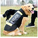 ieftine Becuri LED Robinet-Câine Vestă de Salvare Îmbrăcăminte Câini Polițist / Militar Negru Material amestecat Costume Pentru Husky Bulldog Shiba Inu Primăvara & toamnă Vară Bărbați Pentru femei Impermeabil Sport