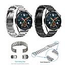 Недорогие Ремешки для часов Huawei-Ремешок для часов для Huawei Watch GT Huawei Классическая застежка Нержавеющая сталь Повязка на запястье
