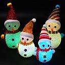 ieftine Lumini & Gadget-uri LED-a condus culoarea schimbând lumina noaptea drăguț Crăciun om de zăpadă Moș Crăciun formă de noapte lampă culoare Crăciun lumină ornamente acasă bar decor decor 1 pachet