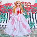 ieftine Câini Gulere, hamuri și Curelușe-Rochie de papusa Pentru Barbie Floral / Botanic Poliester Rochie Pentru Fata lui păpușă de jucărie