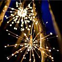 رخيصةأون مجموعة أضواء-ماء 40 فروع 200led الطاقة الشمسية أضواء معلقة النجمي أدى الألعاب النارية مصباح led مكنسة الأسلاك النحاسية الدافئة الأبيض فانوس الإبداعي حزب مهرجان ديكور