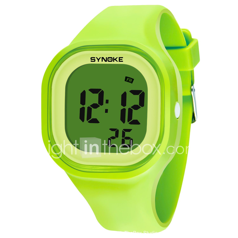 bf59e00bd5741 SYNOKE رجالي نسائي ساعة رياضية ساعة رقمية رقمي سيليكون أسود   الأبيض   أزرق  50 m. رخيصةأون ساعات ...
