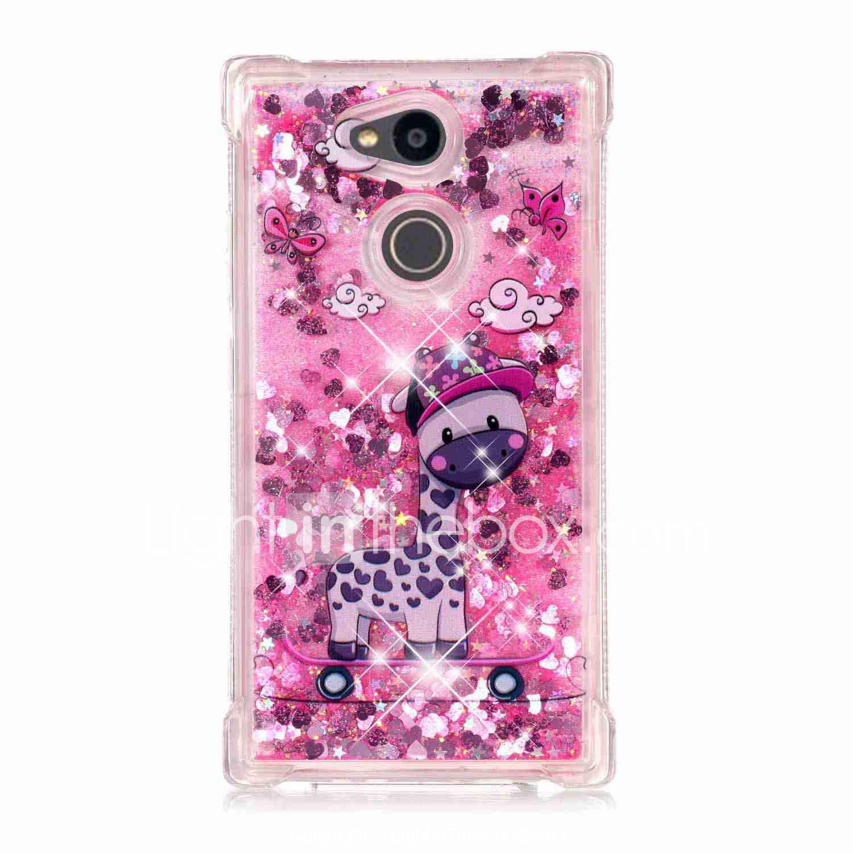 1f33c9133de Case For Sony Xperia XZ Premium / Xperia L2 Shockproof / Flowing Liquid /  Transparent Back