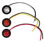 billiga -2 st billampor 1 w 80 lm ledd dimljus / vrid signalljus / sidomarkeringsljus för universella generella motorer alla år