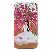 아이폰 4 / 4S를위한 세련된 보호 하드 다시 케이스 (꽃 & 소녀)