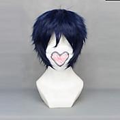 Pelucas de Cosplay Ao no Exorcist Rin Okumura Azul Corto Animé Pelucas de Cosplay 30 CM Fibra resistente al calor Hombre