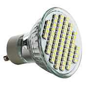 6000lm GU10 Focos LED MR16 60 Cuentas LED SMD 3528 Blanco Natural 220-240V