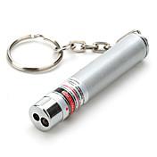 키 체인 모양의 레이저 포인터 알루미늄 합금 0.5 mw 635nm-670nm 야외 5.4 * 0.9 * 0.9 cm