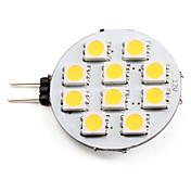 G4 Focos LED 10 SMD 5050 90 lm Blanco Cálido 2700K K DC 12 V