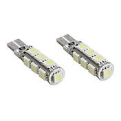t10 13 * 5050 SMD LED blanco CANBus luces del coche de la señal (2-Pack, DC 12V)