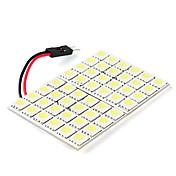 5050 smd 48-ledede hvitt lys pære for bil (12V DC)