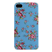 Flower Pattern caso duro para el iPhone 4 y 4S-(colores surtidos)