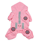 Perro Impermeable Ropa para Perro Un Color Rosa Nailon Disfraz Para mascotas Hombre Mujer A Prueba de Agua