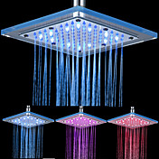 8-pulgadas de 12-LED de techo de acrílico Square Shower Head (colores surtidos)