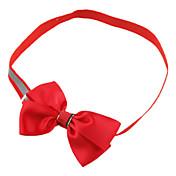 Kat Hund Krave Justerbare / Uttrekkbar Sløyfer tekstil Rose Rød Grønn Blå Marineblå
