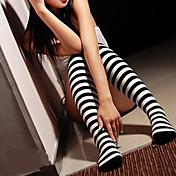 Sokker og Strømpebukser Klassisk og Tradisjonell Lolita Lolita Skole Lolita Dame Lolita-tilbehør Stripet Strømper Spandex Nylon