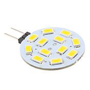 2w g4 led bi-pin luces 12 smd 5630 240lm blanco cálido 2700k dc 12v