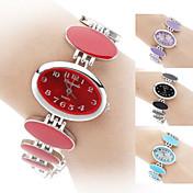 Mujer Reloj de Moda Reloj Pulsera Cuarzo Banda Elegant Negro Blanco Rojo Rosa Morado