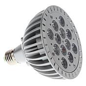E26/E27 Focos LED PAR38 12 leds LED de Alta Potencia 1200lm Morado AC 85-265