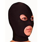 Máscara Ninja Zentai Disfraces de Cosplay Negro Un Color Máscara Licra Hombre / Mujer Halloween / Alta elasticidad