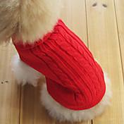 Gato Perro Suéteres Ropa para Perro Clásico Mantiene abrigado Sólido Rojo Verde Rosa Azul Claro Azul Real