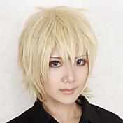 Pelucas de Cosplay Mas alla del límite Konoe Dorado Corto Anime/Videojuego Pelucas de Cosplay 30 CM Fibra resistente al calor Hombre