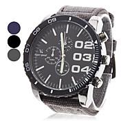 V6 Hombre Reloj Militar Reloj de Pulsera Cuarzo Cuarzo Japonés Reloj Casual Tejido Banda Analógico Encanto Negro / Azul / Gris - Negro Gris Azul Dos año Vida de la Batería / Mitsubishi LR626
