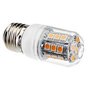 3W 450-550lm E26 / E27 Bombillas LED de Mazorca T 27 Cuentas LED SMD 5050 Blanco Cálido 220-240V