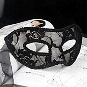 Cosplay Máscara Unisex Halloween Carnaval Año Nuevo Festival/Celebración Disfraces de Halloween Negro Blanco Rojo Un Color Encaje