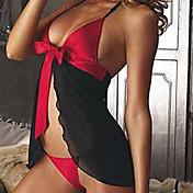 uniformer Cosplay Kostumer Dame Halloween Karneval Nytt År Festival / høytid Halloween-kostymer Rød Svart Lapper Sexy Uniformer