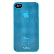 Color sólido Grids Tiny Patrón ultrafinos caja dura de la PC para el iPhone 4/4S DEVIA (colores opcionales)
