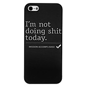 Etui Til Apple Etui iPhone 5 Back Cover Ord / setning Hard PC til Apple