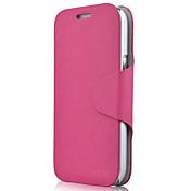 Minimalista color sólido de la PU de cuero de caso completo del cuerpo para Samsung I8552 (Vouni-39)